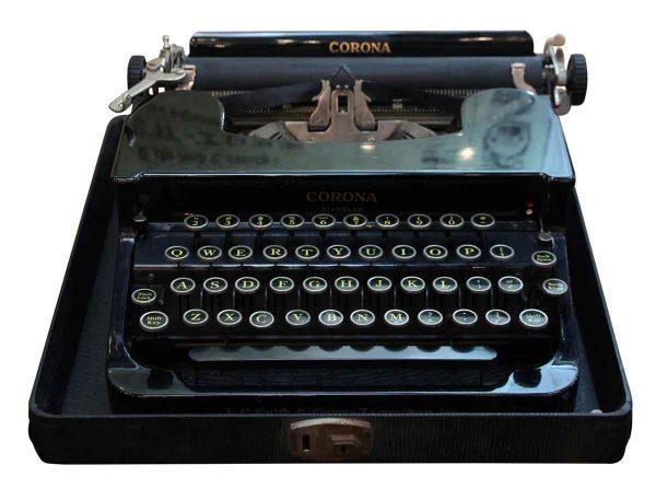 Antique Smith Corona Typewriter with Case - Typewriters