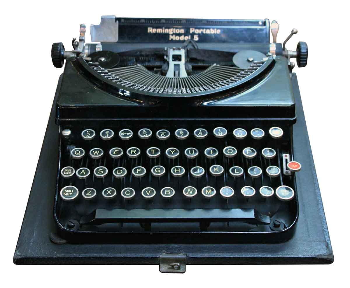 Remington Portable Model 5 Typewriter With Case Olde