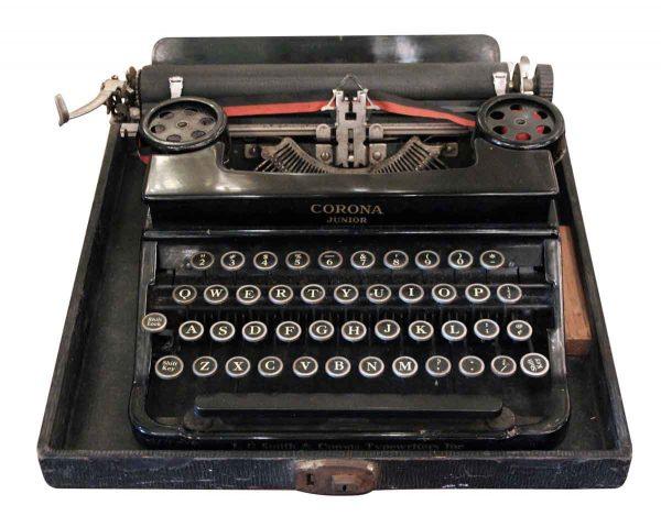 Antique Corona Junior Typewriter with Case - Typewriters