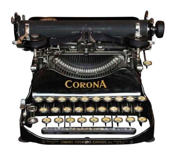 Corona 3 Folding Typewriter with Case - Typewriters