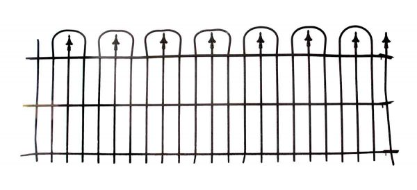 Simple Hoop & Spear Wrought Iron Fence Rail - Fencing