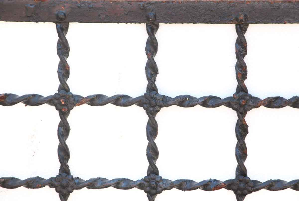 Twisted Wrought Iron Grate With Rosettes Olde Good Things