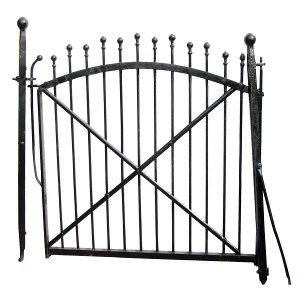 Wrought Iron Garden Walkway Gate with Mounting Posts - Gates