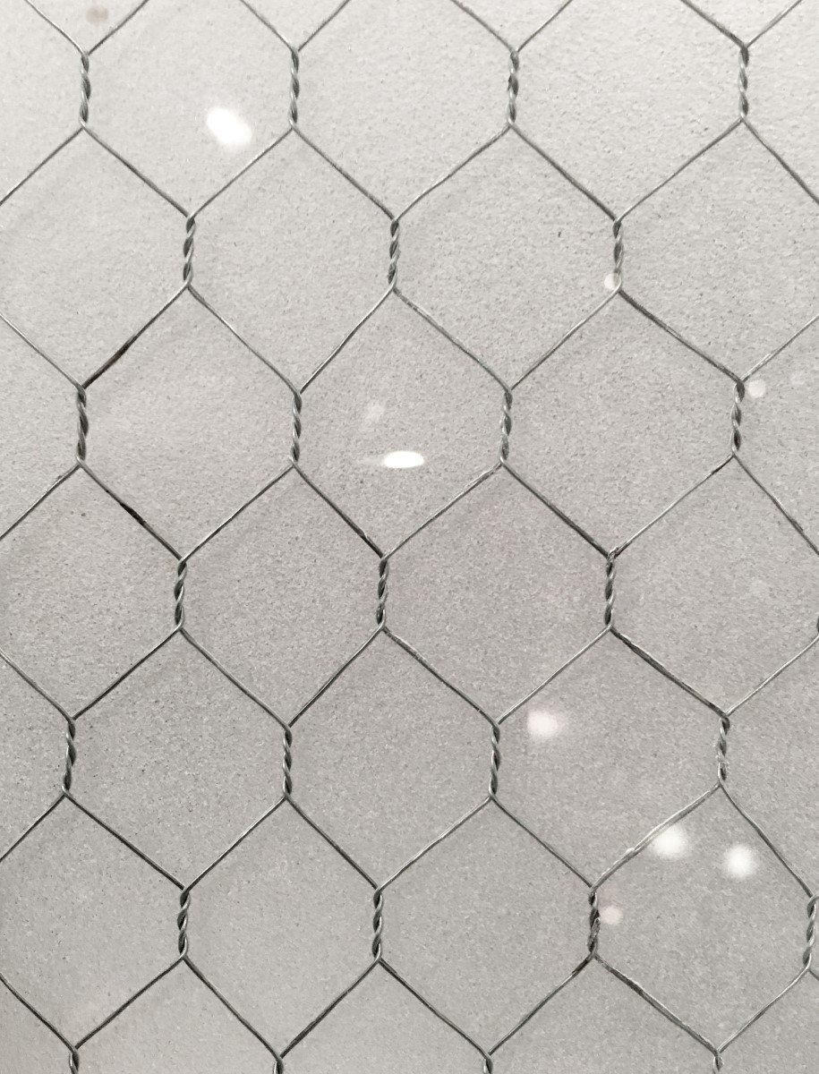 Frosted Vintage Chicken Wire Glass | Olde Good Things