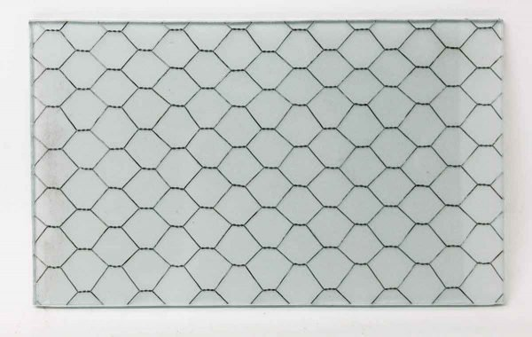 Frosted Vintage Chicken Wire Glass - Chicken Wire Glass