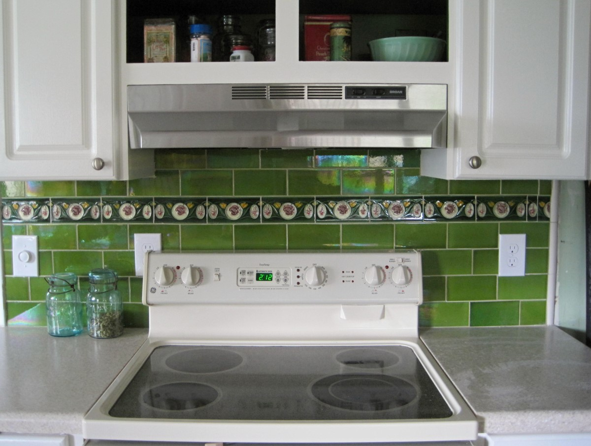 Decorating with vintage tiles olde good things there is still green subway tiles available view online now dailygadgetfo Image collections