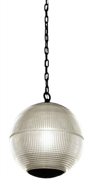 1970 Paris Holophane Globe Streetlight Turned Pendant Light - Down Lights