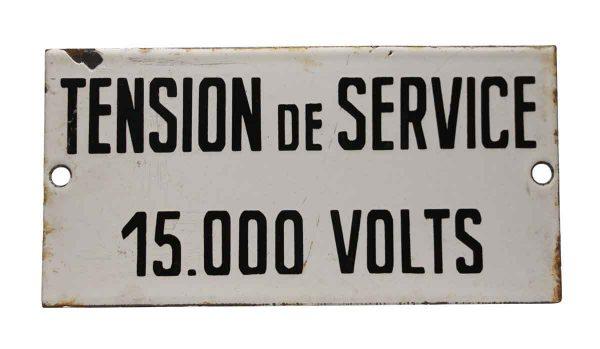 Single Tension de Service Sign - Vintage Signs