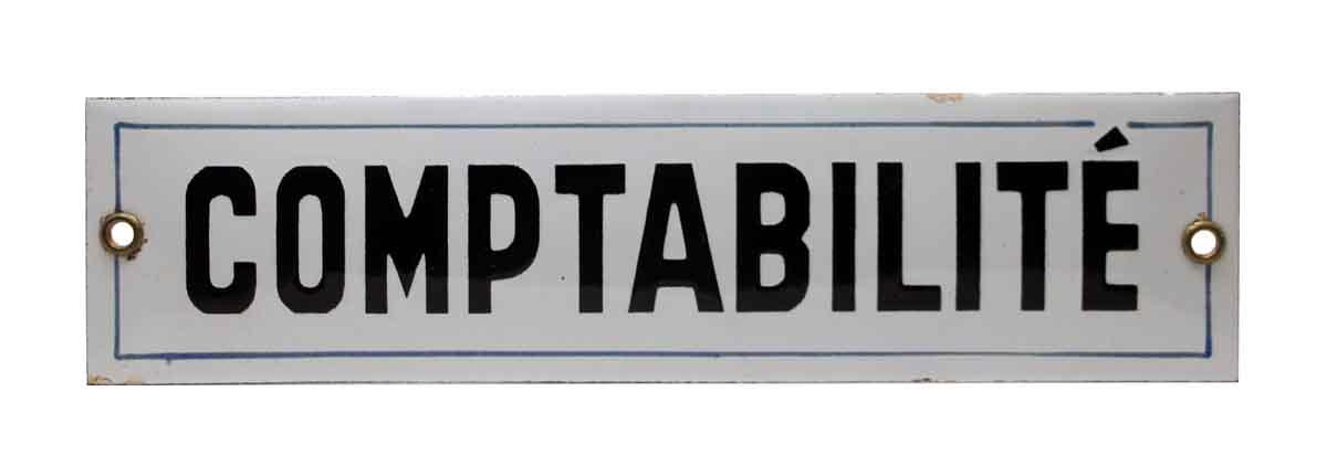 Comptabilite Sign - Vintage Signs