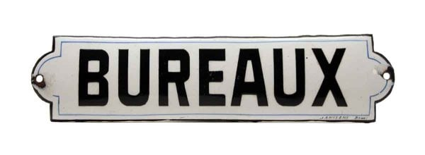 """French """"Bureaux"""" Offices Sign - Vintage Signs"""