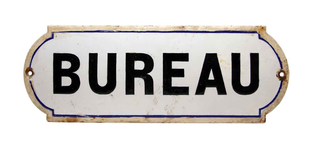 French Bureau Office Sign - Vintage Signs