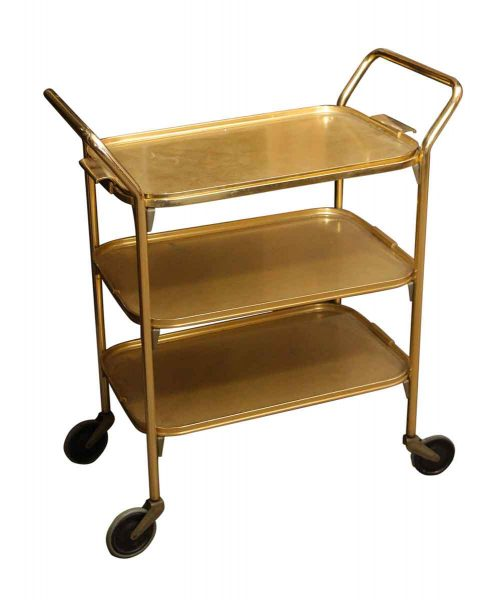 Gold European Aluminum Bar Cart - Carts