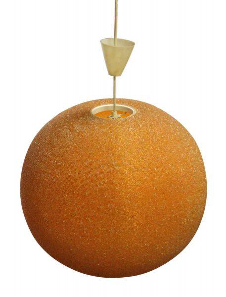 Large Orange Arctic Ball Pendant Light - Globes