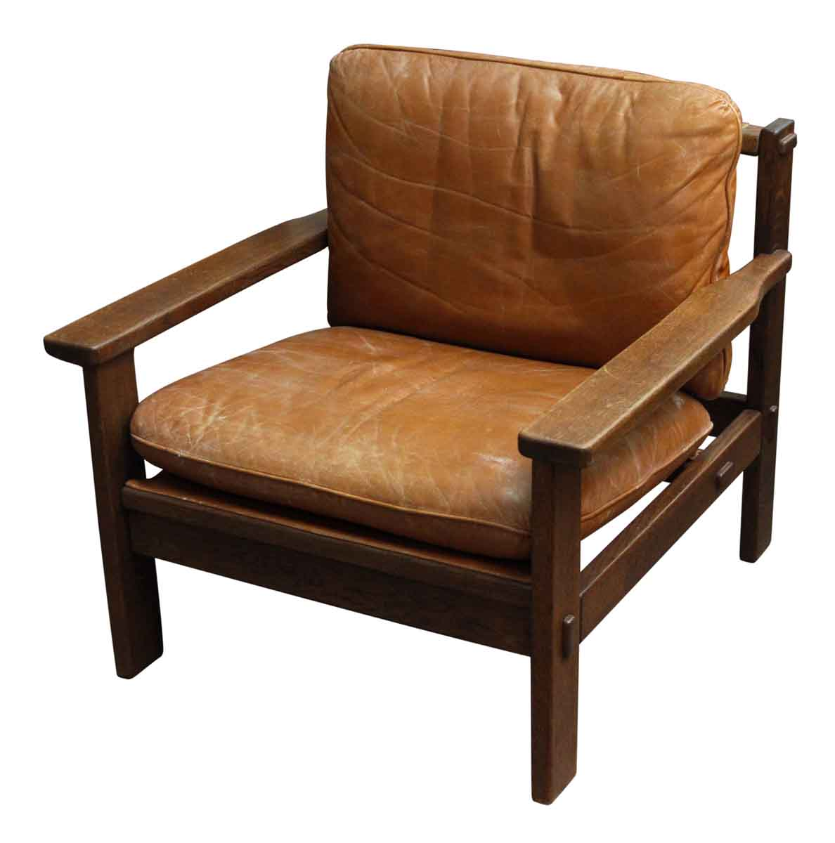 Pair of Brazilian Looking Leather Chairs - Living Room