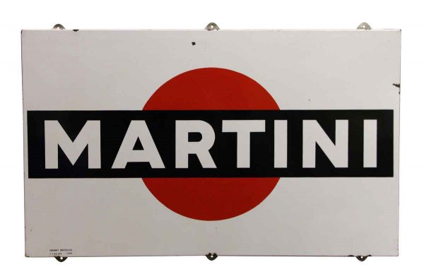 Metal Enameled Martini Sign - Vintage Signs