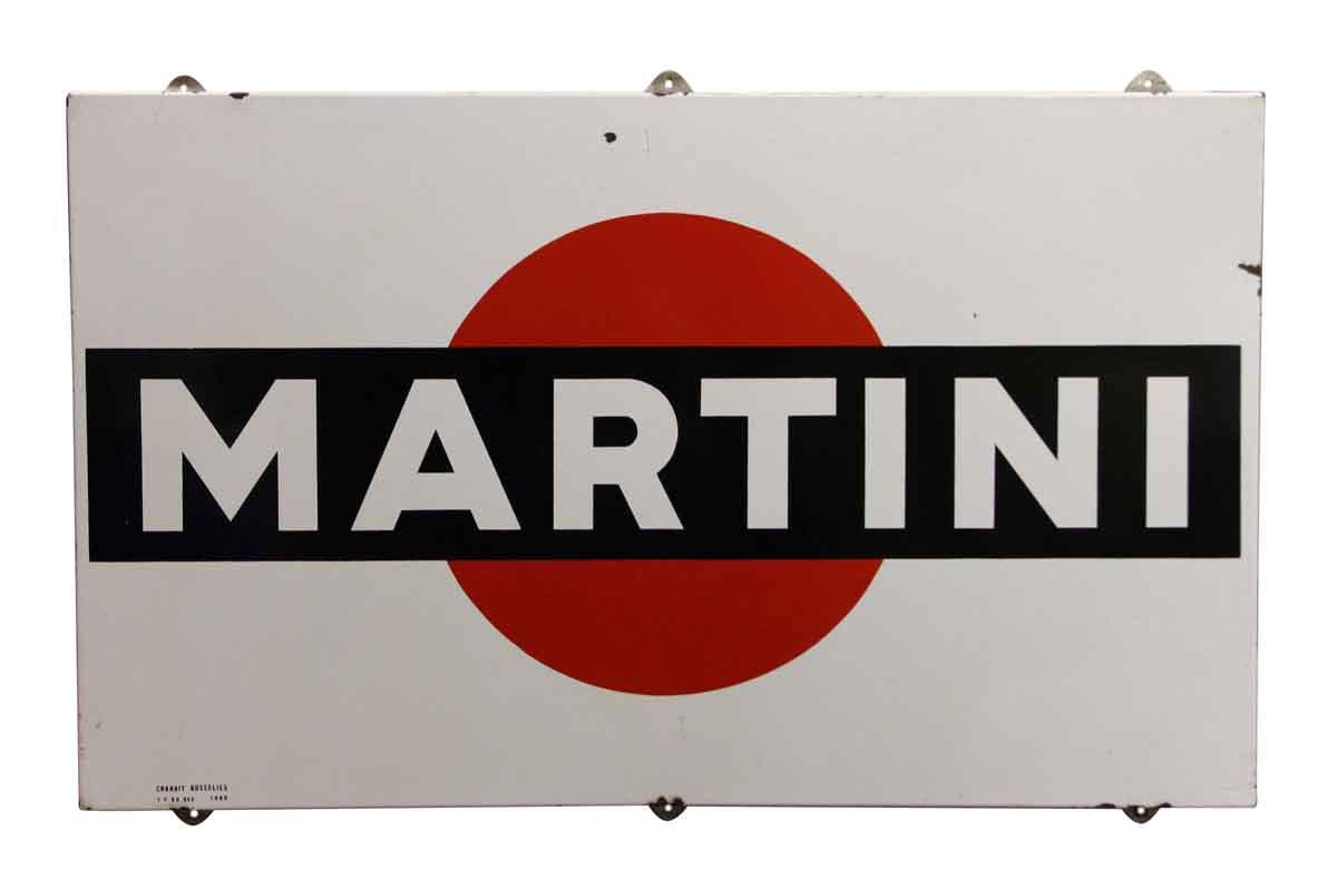 Metal Enameled Martini Sign - Vintage Signs