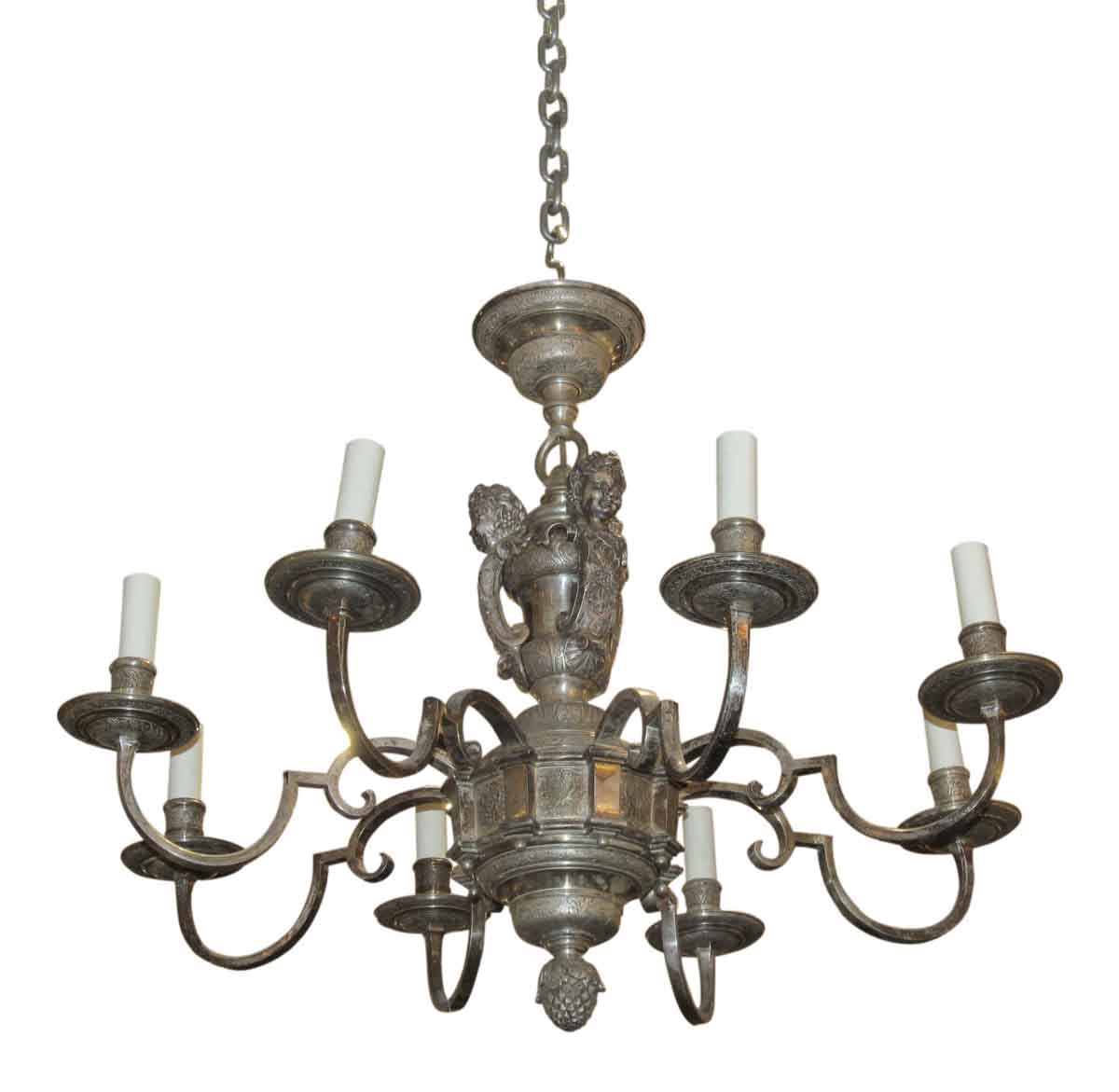 1900s Silver Plated Caldwell Chandelier Chandeliers