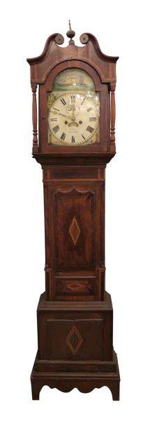 Early 1800s English Grandfather Tall Case Clock - Clocks