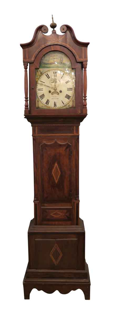 Early 1800s English Grandfather Tall Case Clock Olde
