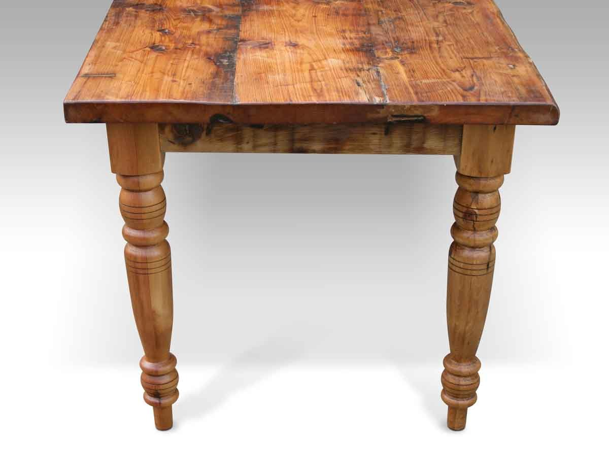 Rustic Pine Farm Table With Turned Legs Olde Good Things