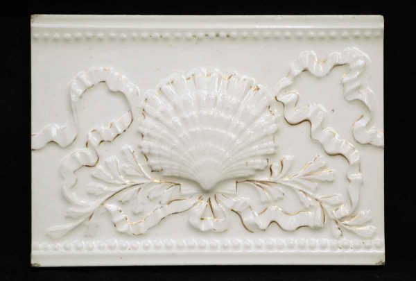 Old Bridge Tile Co. Seashell Tile with Gold Detail - Wall Tiles