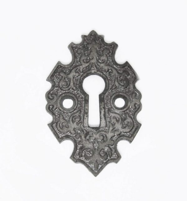 Original Arts & Crafts Iron Keyhole Cover - Keyhole Covers