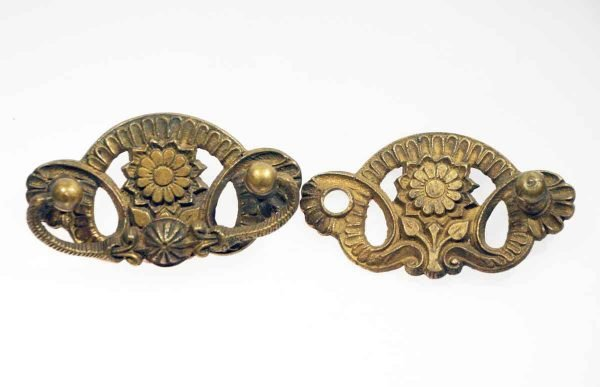 Set of Two Eastlake Brass Bail Pulls - Cabinet & Furniture Pulls