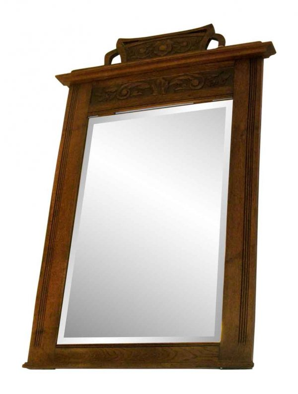 Large wooden frame mirror - Antique Mirrors