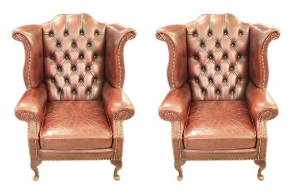 Pair of wing back chairs - Living Room
