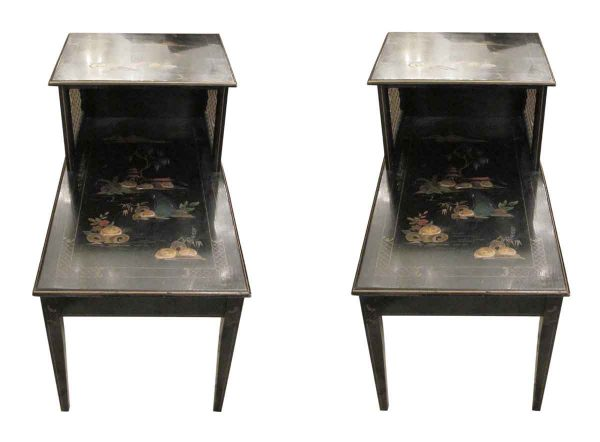 Pair of Chinese end tables - Living Room