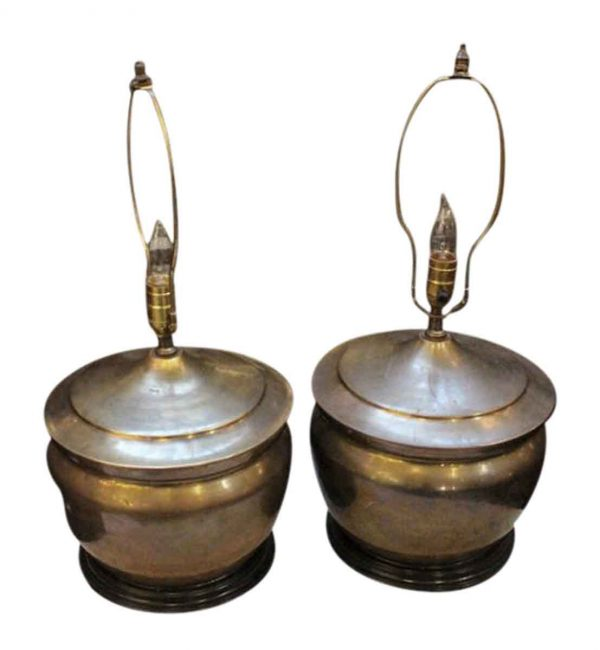 Pair of brass urn lamps - Table Lamps