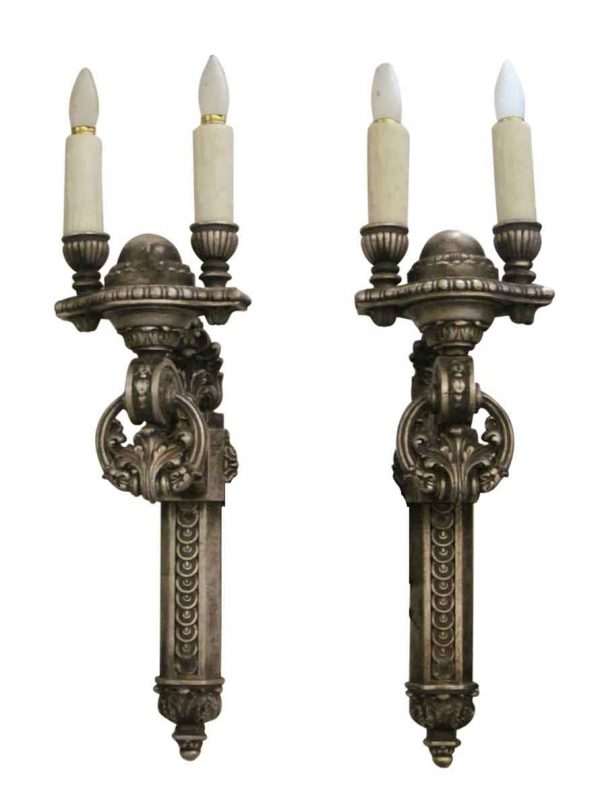 Wood Double Arm Sconces - Sconces & Wall Lighting
