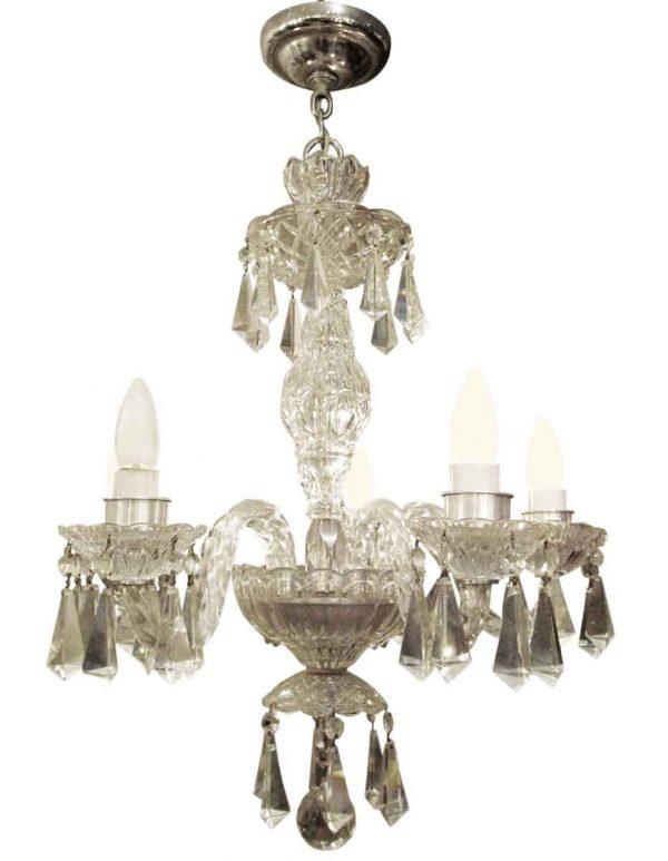 Five arm chandelier German lead crystal - Chandeliers