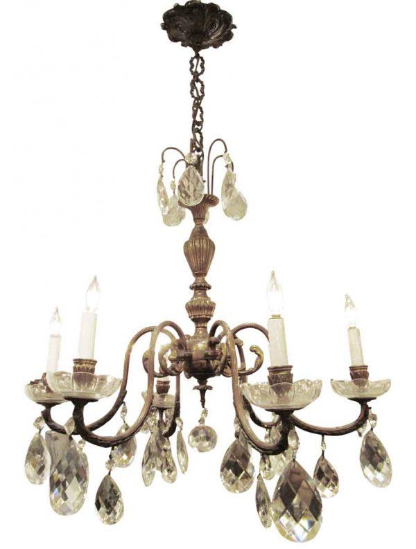 Six arm crystal bronze chandelier - Chandeliers