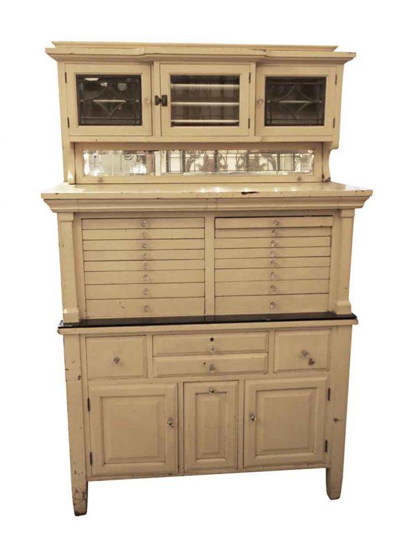 Vintage Tan Dental Cabinet - Commercial Furniture