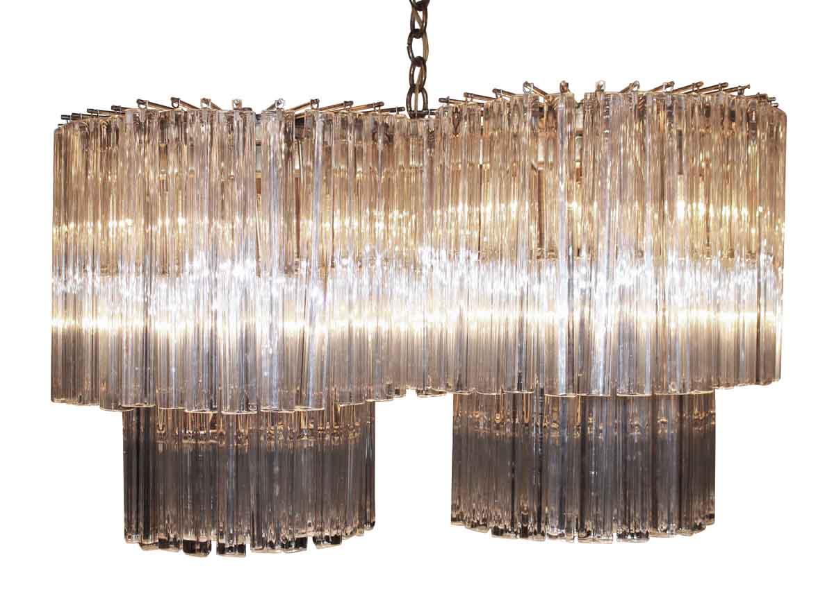 Venini Double Column Two Tier Chandelier - Down Lights