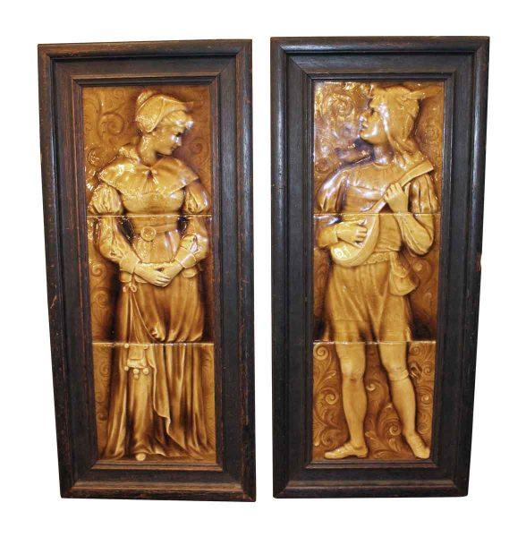 Decorative Figural Tile Framed Friezes - Tile Murals