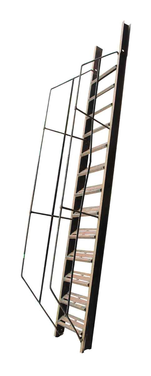 Vintage Cast Iron Fire Escape Staircase with Hand Rails - Fire Safety