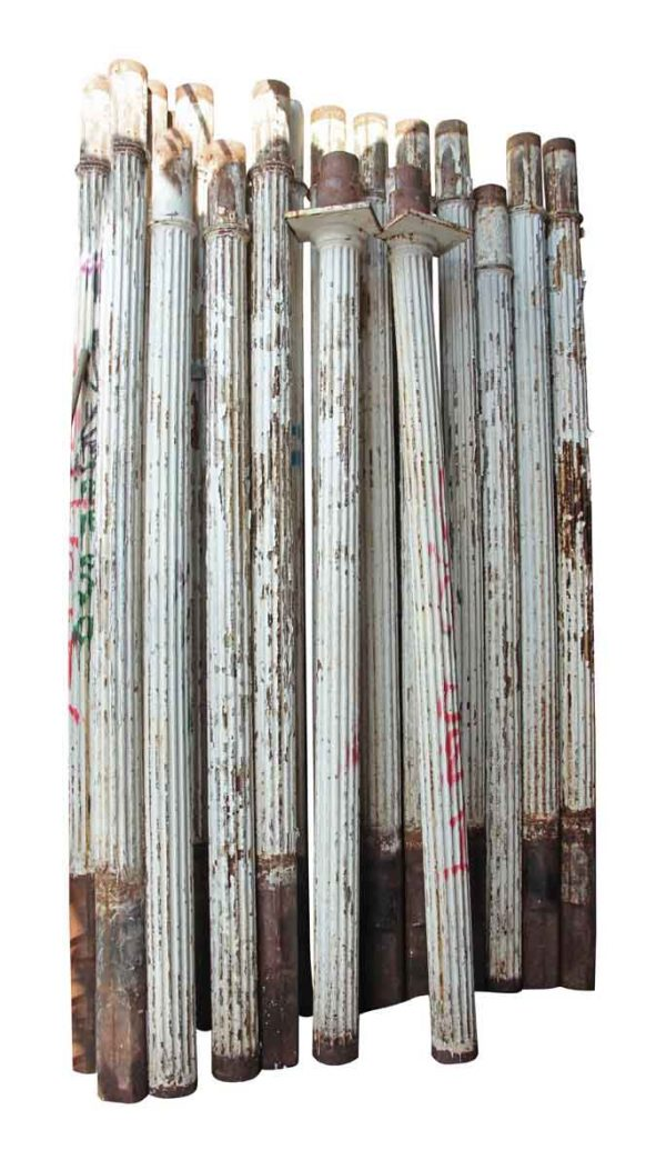 Turn of the Century Fluted Cast Iron Structural Columns - Columns & Pilasters