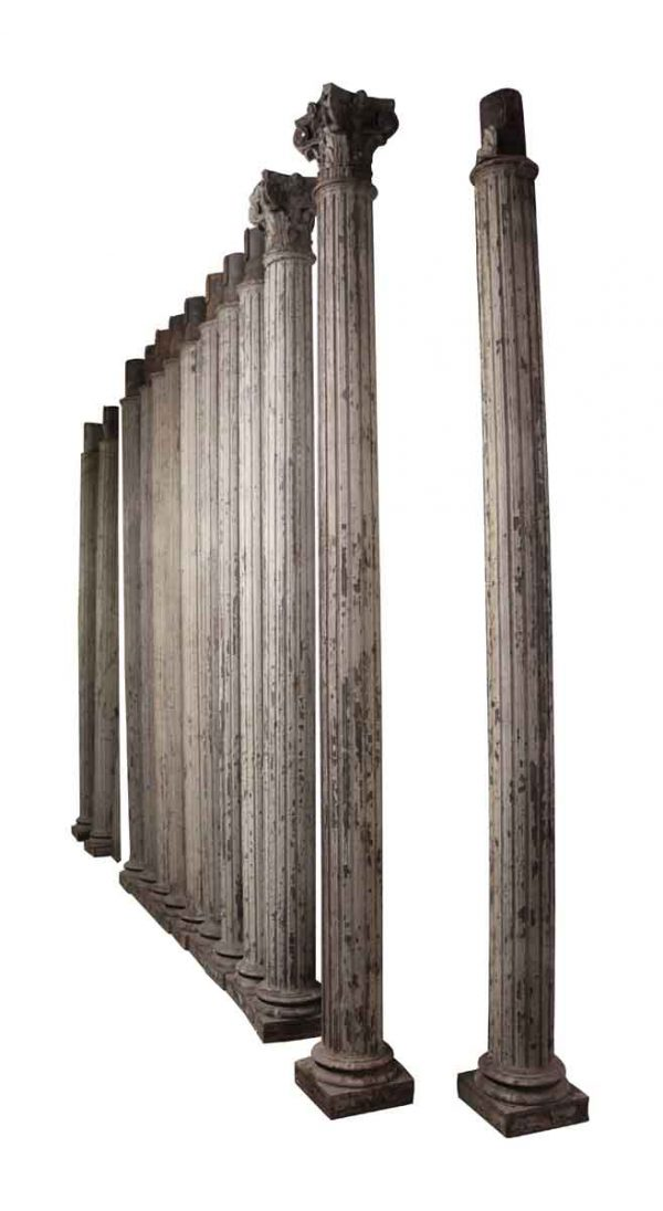 Historic Grand Central Station Era Cast Iron Fluted Columns - Columns & Pilasters