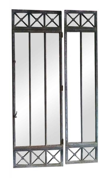 Beaux Arts Cast Iron Frame Windows or Doors with Two Side Lights - Building Elements
