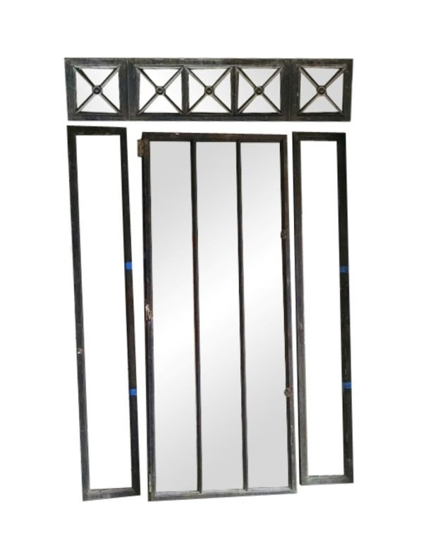 Cast Iron Frame Windows or Doors with Transom and Side Lights - Building Elements
