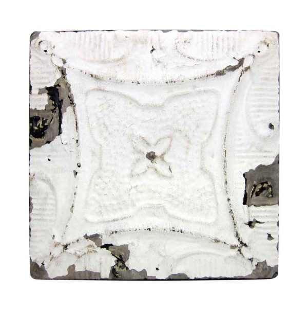 Solid White 4 Leaf Tin Panel - Tin Panels