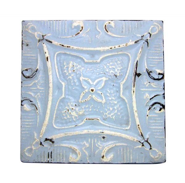 Sky Blue 4 Leaf Tin Panel - Tin Panels