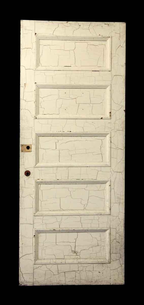 Crackled White Recessed Five Panel Door - Standard Doors