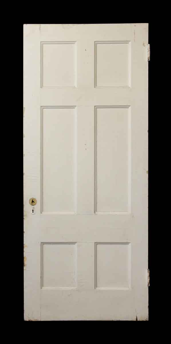 White Wooden Six Panel Door - Standard Doors