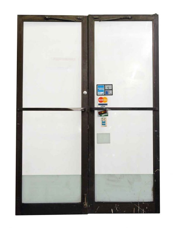 Pair of Metal & Glass Doors Commercial Doors - Commercial Doors