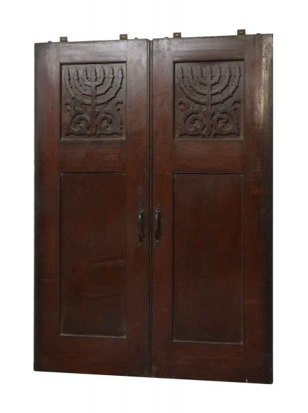 Double Oak Doors From A Jewish Synagogue