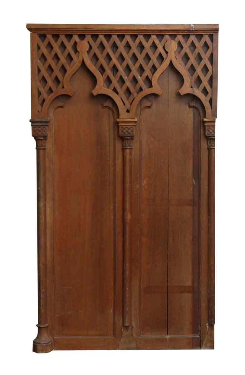 Old Wood Wall Paneling: Gothic Wooden Wall Panel