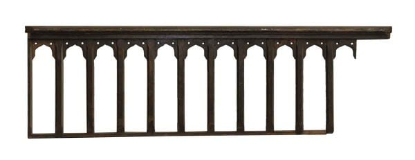 Balcony Railing with Gothic Detail - Staircase Elements